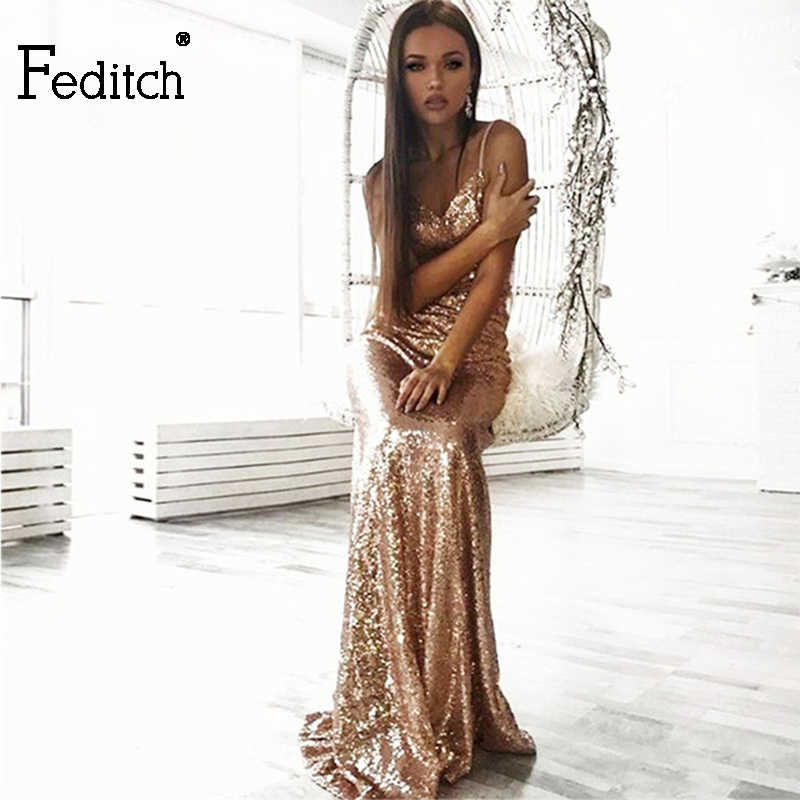 51c82d06 Detail Feedback Questions about Feditch 2017 Newest Dresses Women Sexy  Backless Sequin Maxi Long Dress High Waist Elegant Lady Fashion Party  Dresses ...
