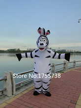 High Quality Adult Size In Madagascar Zebra Mascot Costume Madagascar Marty Mascot Costume Free Shipping