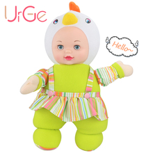 Хит продаж милый мультфильм Мягкие плюшевые мягкие курица куклы Reborn Детские игрушки для девочек Рождество Кукла цыпленок urge