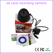 32G TF card slot loop recording home security indoor dome card camera dvr, usb HD camcorder