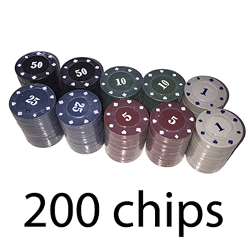 200pcs Poker Chips 2 Decks Of Playing Cards 2 Blinds