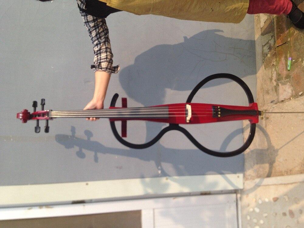 4/4 New  Electric cello Powerful Sound White Blue Black Yellow solid wood 2# new 4 4 electric cello powerful sound ebony parts end pin tailpiece peg 1468