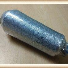 Металлическая блестящая нить для вязания крючком, серебряная нить для вышивки, нить для большинства компьютерных машин, 3500 м каждый, супер блеск