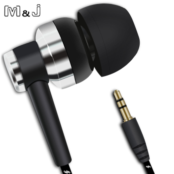M&J J10 MP3 MP4 Wiring Subwoofer Headset Ear Braided Rope Wire Cloth Rope Earplug Noise Isolating Earphone Handfree image