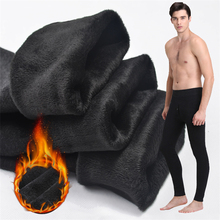 Thermal underwear for Men winter Long Johns thick Fleece leggings wear in cold weather big size XL to 6XL cheap MSSNNG xy-212 Polyester COTTON