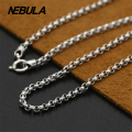 Thai Silver 3mm Link Chain Necklace New Fashion Necklace 100% Authentic 925 Sterling Silver Necklace Women Men jewelry