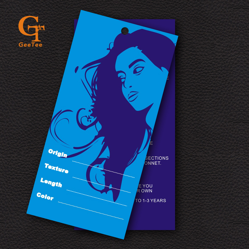 Custom Shop Name Brand Logo Women Hair Extension Paper Packaging