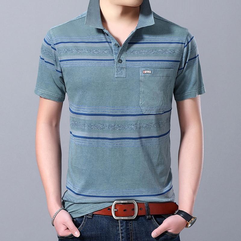 2019 New Fashions Brand Designer   Polo   Shirt Mens Mercerized Cotton Summer Slim Fit Short Sleeve Plaid   Polos   Casual Men Clothing