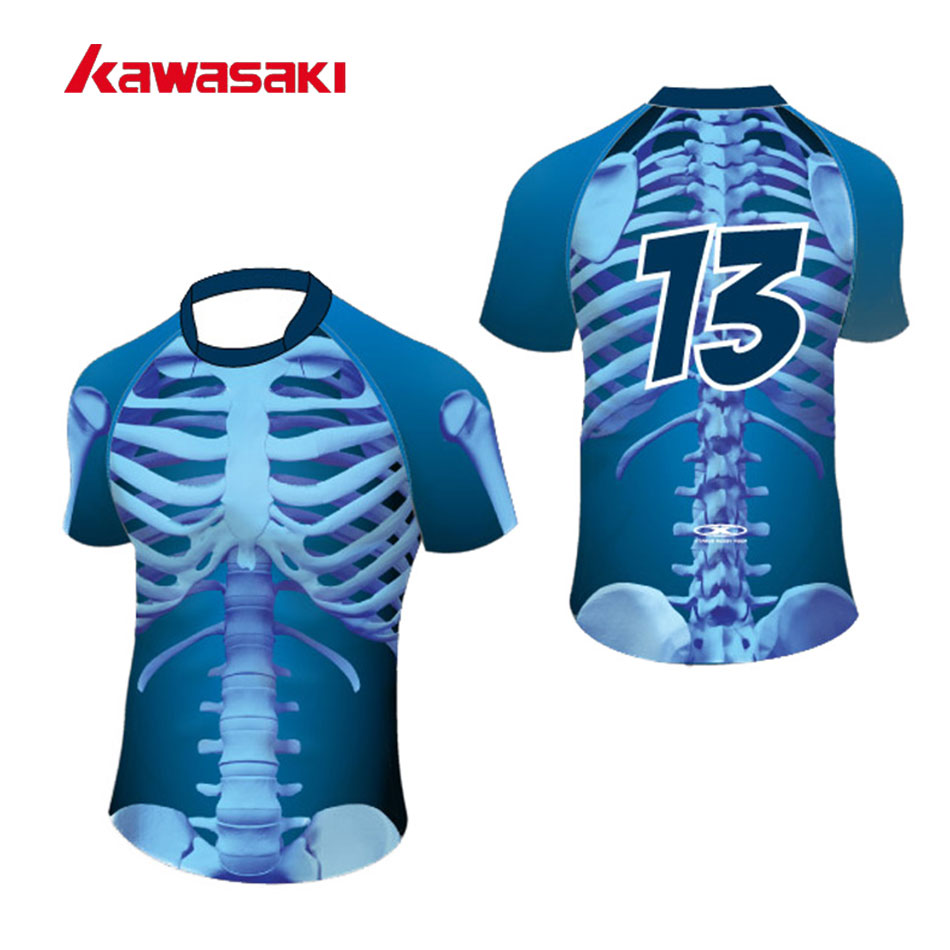 Kawasaki Marque Personnalisé Angleterre Rugby Jersey Manches Courtes Hommes Formation Respirant Polyester À Séchage Rapide Sport Top Chemise Maillots