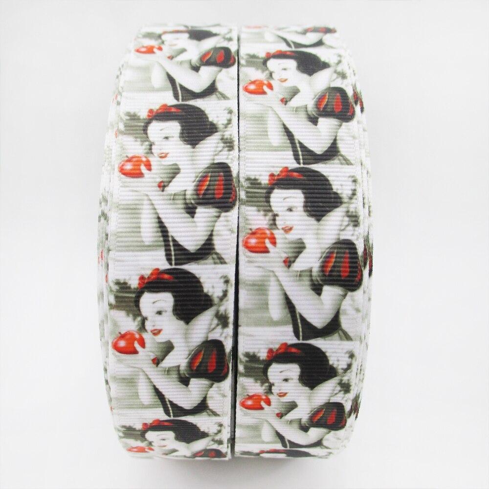 1 «(25 мм) для девочек с героями мультфильмов Высокое качество печатных полиэстер ленты 5 метров, DIY материалы ручной работы, свадебная подарочная упаковка, 5y49355