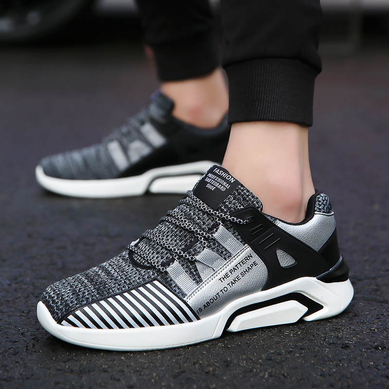 Hot Light-weight Running Shoes White Men Sport Shoes SMART CHIP Mens Black Sneakers Brand Man Walking Sports Shoes