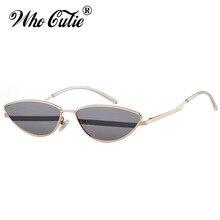 dc252cec19 OMS CUTIE marca diseñador mujeres 2018 alta calidad Retro Tiny Delgado  Verano del ojo de gato gafas de sol hombres sombras OM680