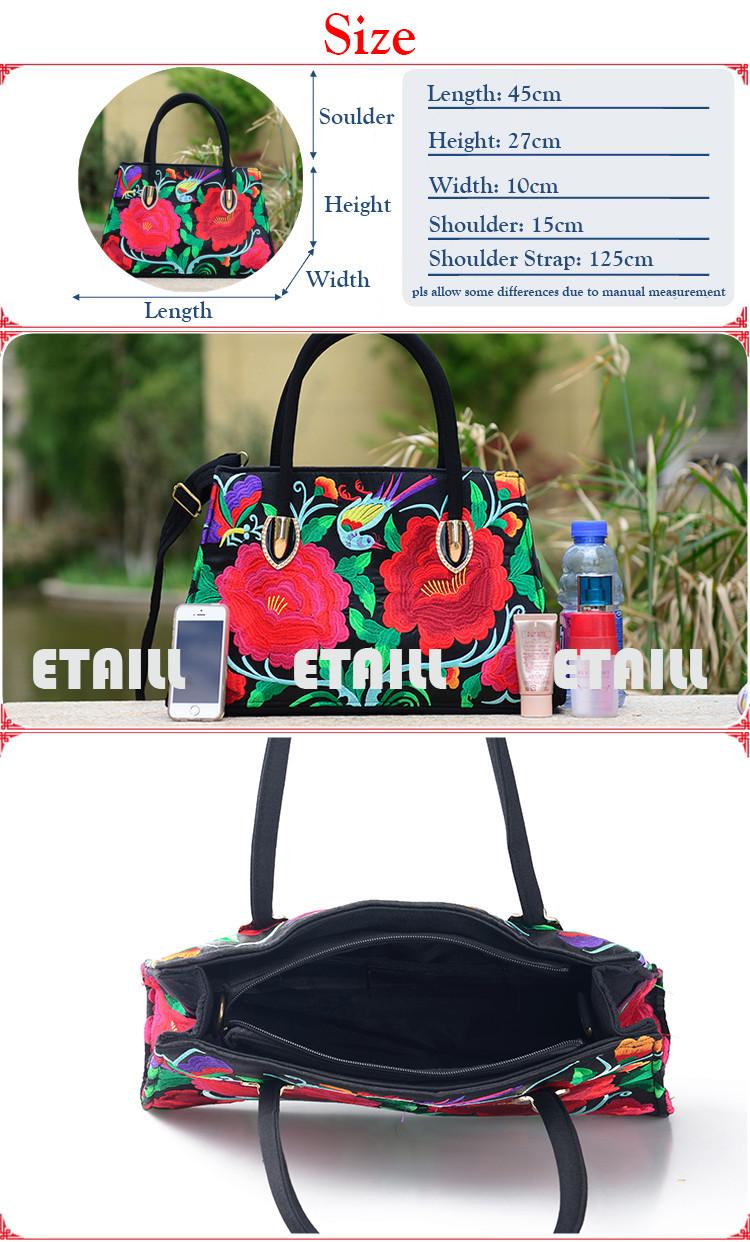 embroidered one shoulder messenger bags