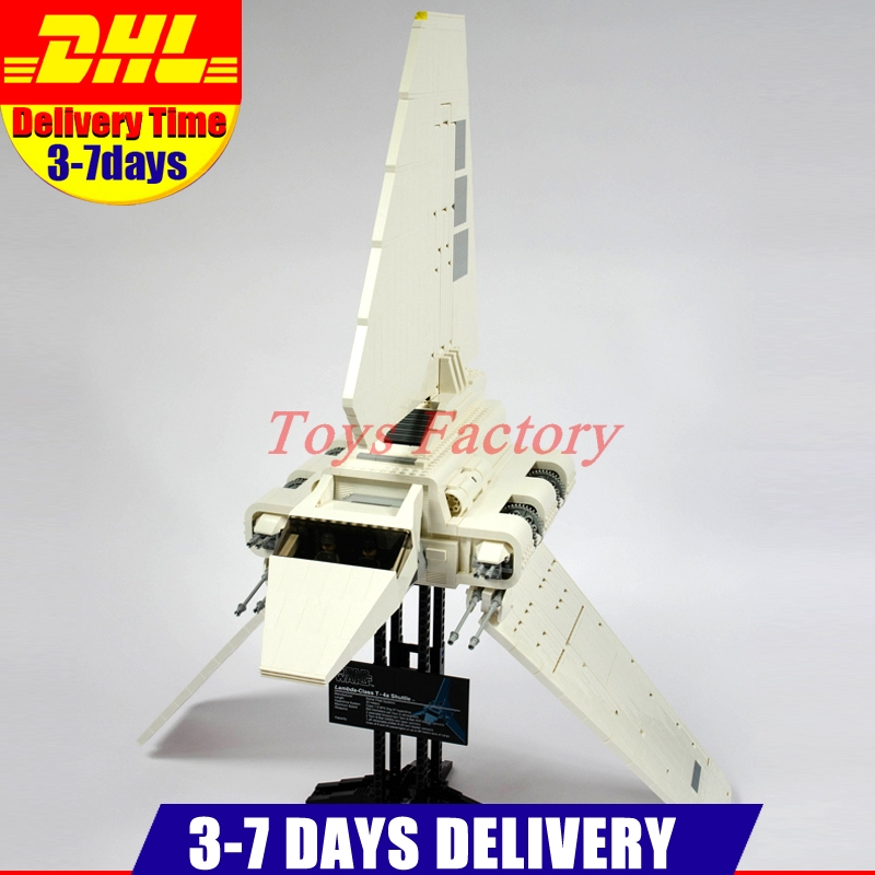 IN Stock DHL LEPIN 05034 2503 PCS UCS Series The Imperial Shuttle Model Building Kits Blocks Bricks Toys Gift 10212 in stock new lepin 22001 pirate ship imperial warships model building kits block briks toys gift 1717pcs compatible10210