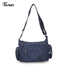 TEGAOTE Brand Men's Bag Messenger Bags Wateproof High Quality Nylon Zipper Bag Crossbody For Male Casual Travel Military Bag