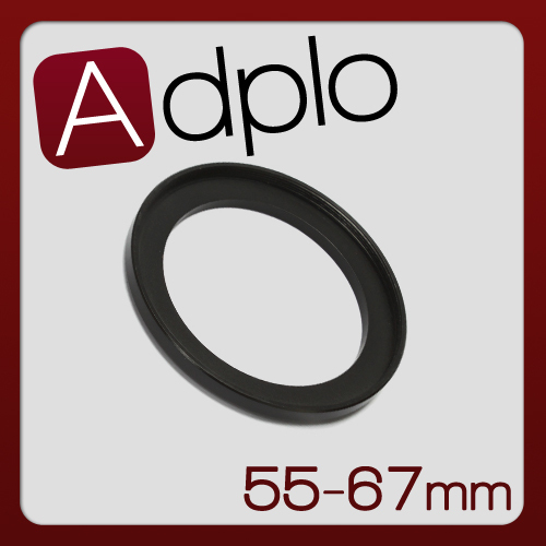 55-67mm Step-Up Metal Adapter Ring / 55mm Lens to 67mm Accessory