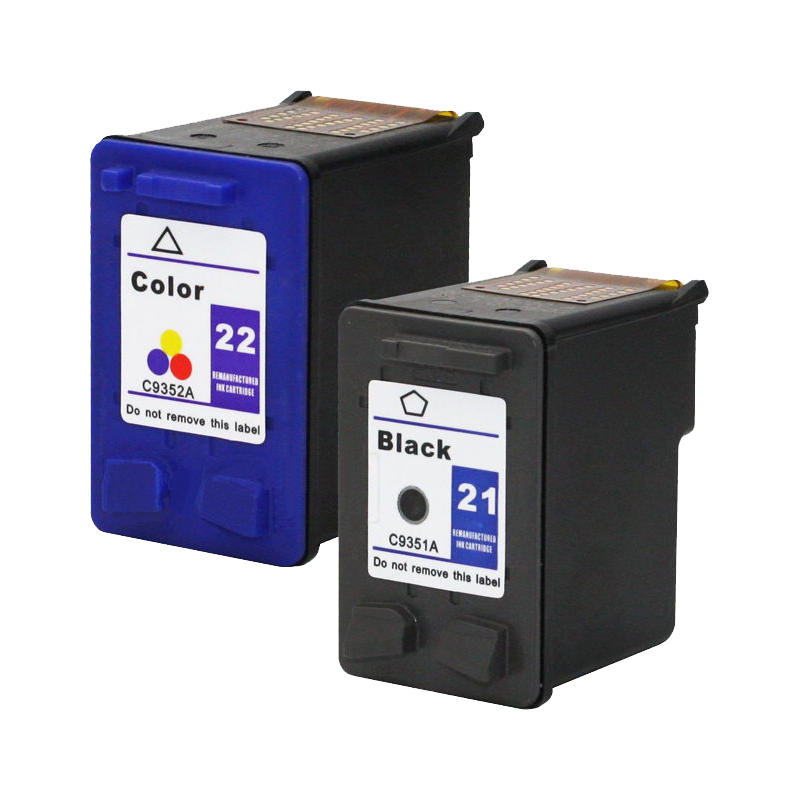 For HP 21 22 xl Ink Cartridge Deskjet F2280 F380 F2100 F2110 F2240 F2180 F2250 F4100 D1360 D2360 For HP Cartridges 21 and 22 applicable for hp ink cartridge for hp 21 22 cartridges deskjet f300 f310 for hp 21xl 22xl factory direct