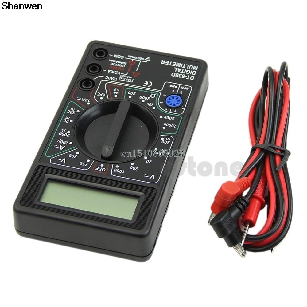 1vnt. Skaitmeninis multimetras su garsinio signalo įtampos ampermetro bandymo zondu DC AC LCD