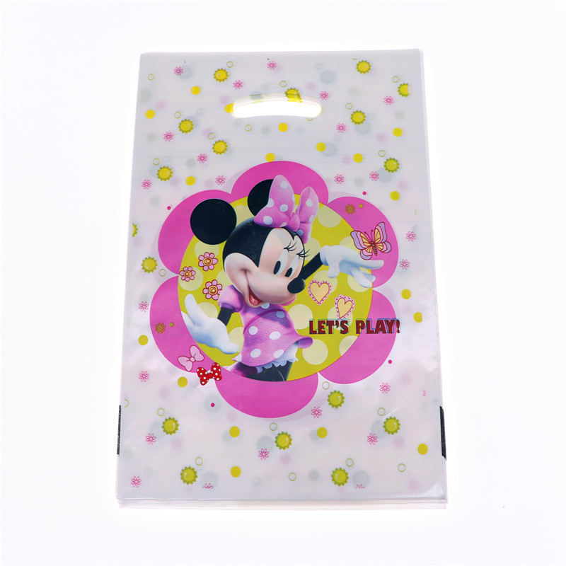 20Pcs/lot Minnie Mouse Candy Gift Bags Christmas Birthday Party Decorations Kids Girl For Home Favor Baby Shower Party Supplies