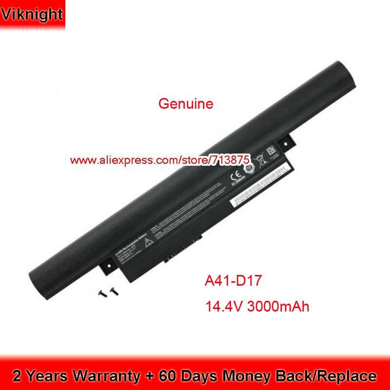 Véritable 14.4 V 3000 mAh A41-D17 Batterie pour Medion Akoya E7415 E7419 Erazer P7647 P7643 D17LS9H 40050714