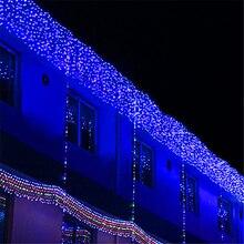 10*2 м 640 Лампы СВЕТОДИОДНЫЕ Занавес фары рождественские огни строки Гирлянда новый год праздник стороной свадебные украшения лампы освещение