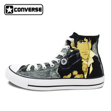 bef00a6663f4 Design Hand Painted Skateboarding Shoes Cowboy Bebop Spike Spiegel Brand  Athletic Sneakers Men Women Converse All Star