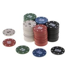 100 шт Техасский покерный чип подсчет бинго фишки наборы казино развлекательные аксессуары для карт настольная игра