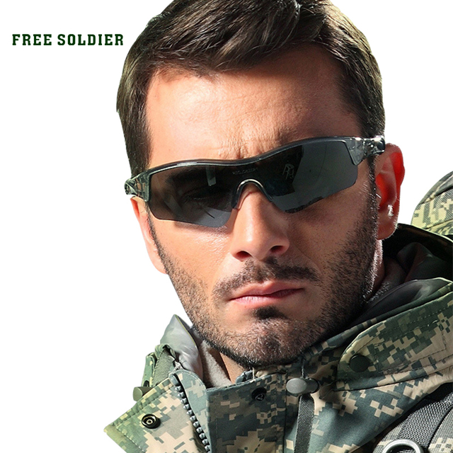 FREE SOLDIER outdoor hiking camping driving cycling eyewear glasses sport cycling sunglasses men polarized TR90 rada