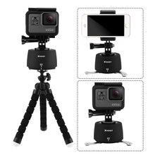 Снимать 360 Вращение промежуток времени штатива для GoPro Hero 5 6 4 SJCAM Экен Yi 4 К DSLR Камера с осьминогом Штатив для мобильного телефона