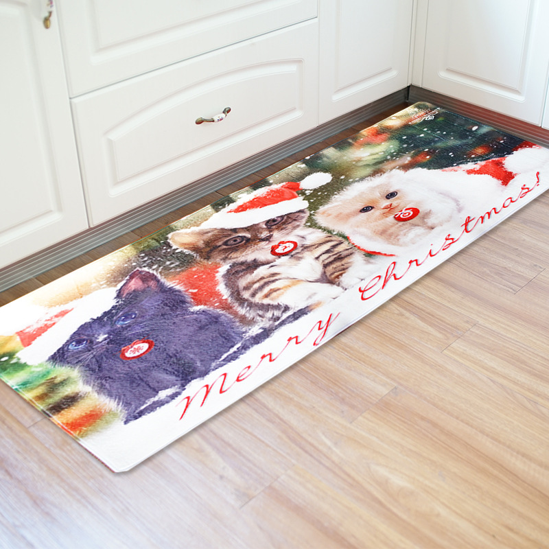 Honlaker 60x180CM Kitchen Rug Christmas Decoration Kitchen