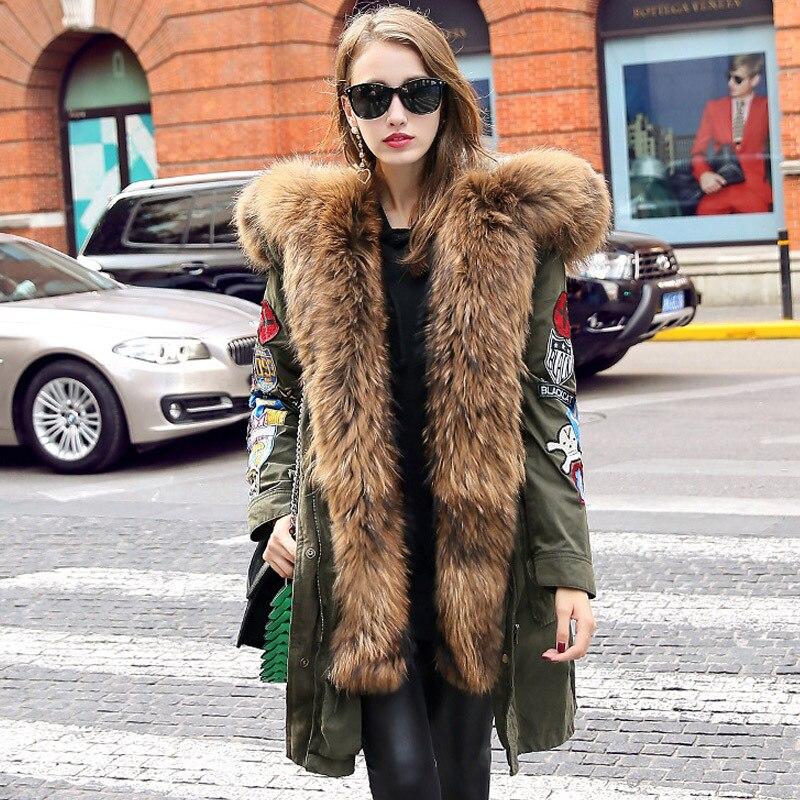 Jott 2017 High Fashion Street Women Luxurious Large Raccoon Fur Hooded Parkas Warm Down Jacket Detachable Outwear Winter Jacket down daisy street