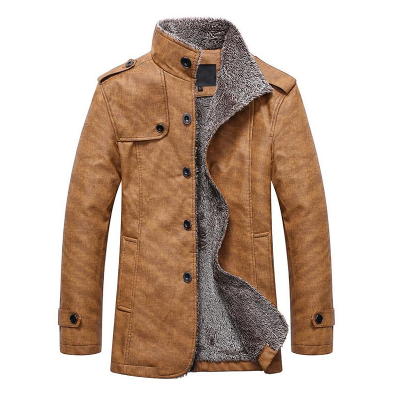 Autumn And Winter High Quality New Winter Fashion Men's Coat, Men's Jackets, Men's Leather Jacket Motorcycle Windproof