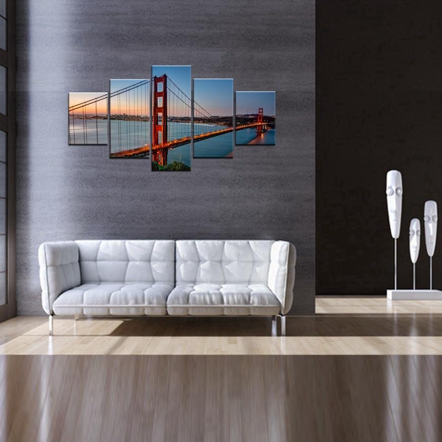 Famous Scenic Spot Golden Gate Bridge San Francisco Home
