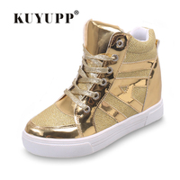 Women Boots Mixed Colors Wedge Concealed Heel High Top Platform Sneakers Ankle Boots Lace Up Shoes