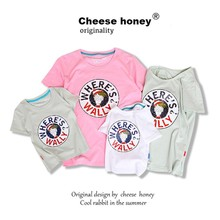 Mother Kids Mom and Daughter Clothes Shirts 100% Cotton Dad