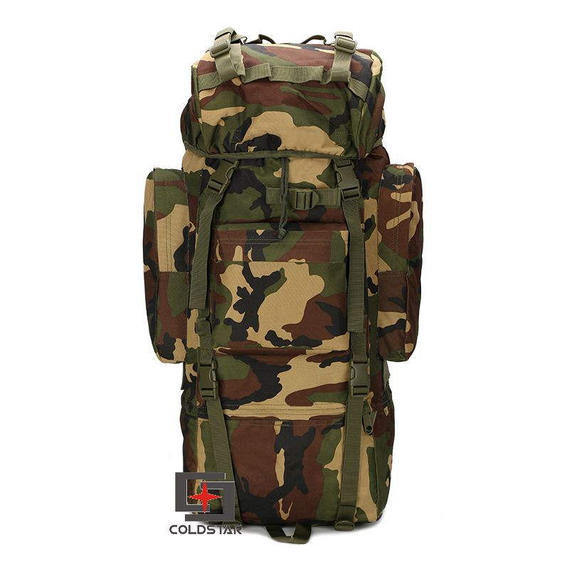 Woodland Camouflage 65l Mountaineering Bag Tactical Bag Military Camouflage Men Outdoor Large-capacity Travel Backpack