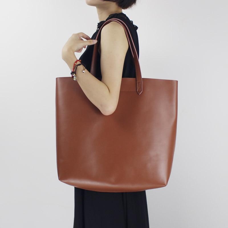 Original leather handmade large capacity ladies large bag art shoulder bag Tote bag 2018 new Genuine Leather