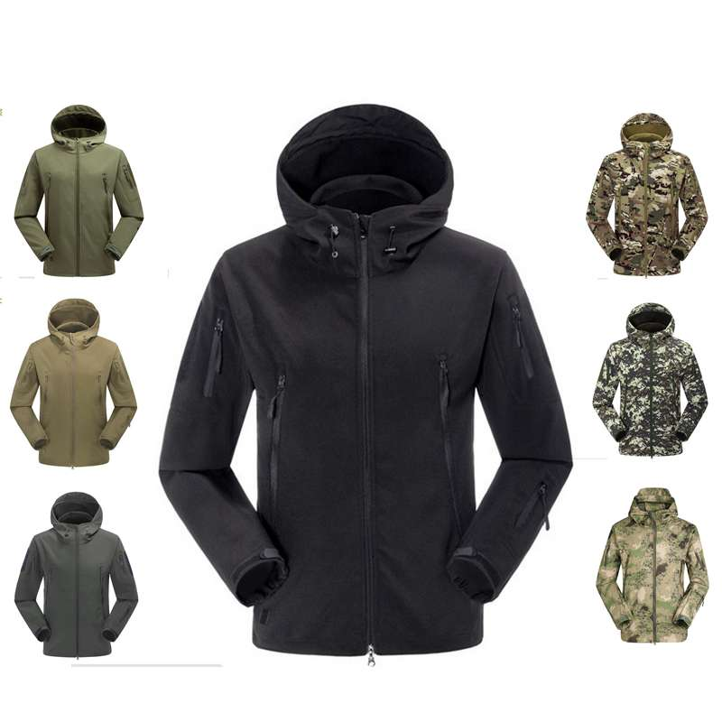 Men Outdoor Military Tactical Jacket TAD Hunting Waterproof Hoodie Coat Outwear Army Coat Suit Leisure hunting jackets waterproof camouflage hoodie men s army military outdoor soft shell tactical jacket military camo army clothing