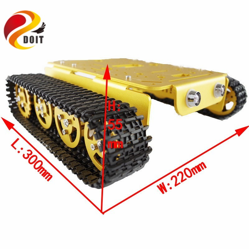DOIT RC Metal robot Tank Car Chassis Caterpillar with High Torque Motor With Hall Sensor Speed Measure Remote Control jx pdi 5521mg 20kg high torque metal gear digital servo for rc model