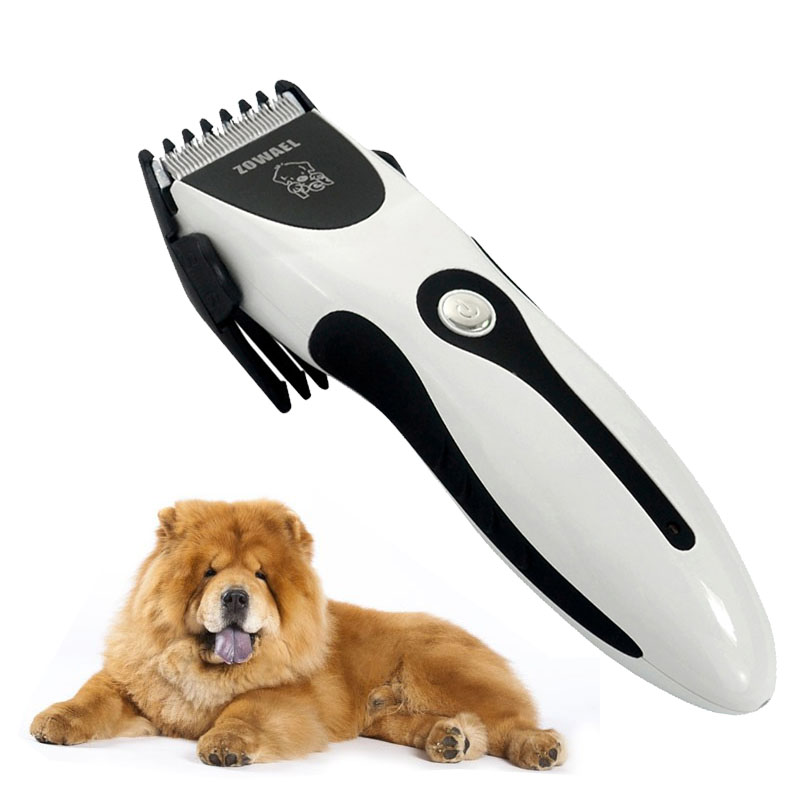 Professional Pet Dog Hair Trimmer Clipper Rechargeable Animal Electric Cat Grooming Hair Cutter Shaver Razor With Comb Brush yuho yh 638 15w electric pet hair clipper set for dogs black silver