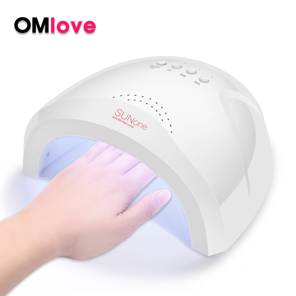 OMlove 48W UV Led Lamp For All Gels Polish Sun One Nail Lamp For Drying Nail Gel With Automatic Sensor Smart Temperature ControlOMlove 48W UV Led Lamp For All Gels Polish Sun One Nail Lamp For Drying Nail Gel With Automatic Sensor Smart Temperature Control
