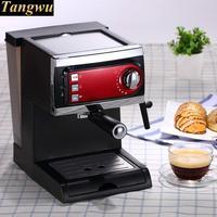 Italian semi-automatic coffee machine is used to beat the foam