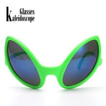 Kaleidoscope Glasses Funny Alien Eyes Sunglasses Men Costume