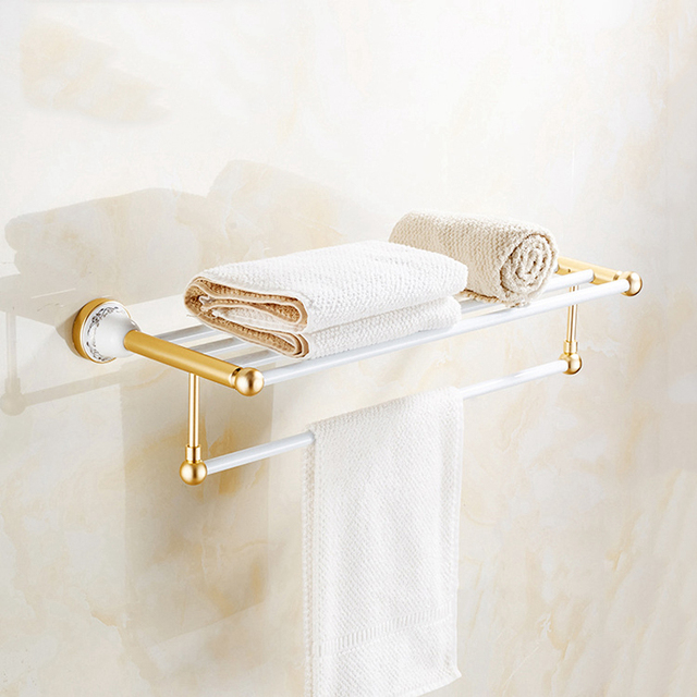 3 Styles Wall Mounted Towel Bar Holder With Hooks Rack E