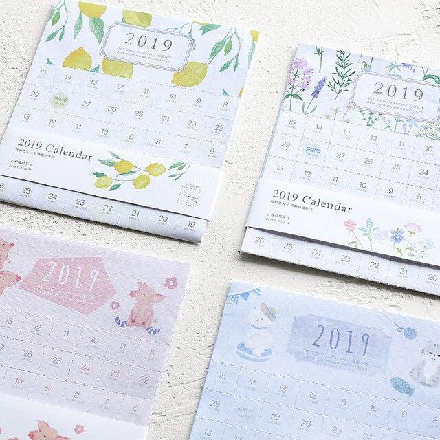 Calendario Diario 2019.2 09 2019 Ano 365 Calendario Diario Pegatina De Indice Diy Decorativo Viajero Cuaderno Etiqueta Pegatinas Calendario 2018 10 2019 12 En