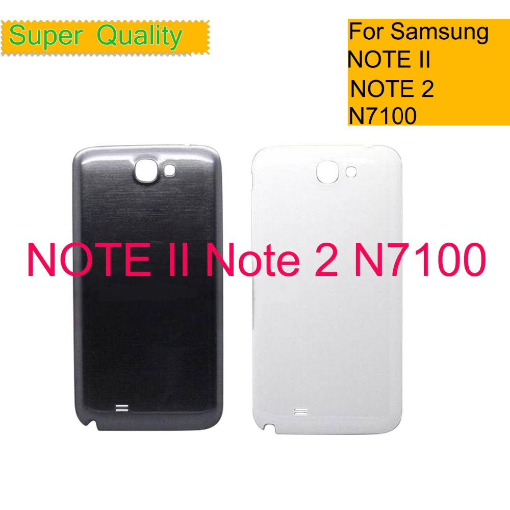 For Samsung Galaxy Note 2 N7100 N7105 N7108 i317 Housing Battery Cover Back  Cover Case Rear Door Chassis Shell Replacement