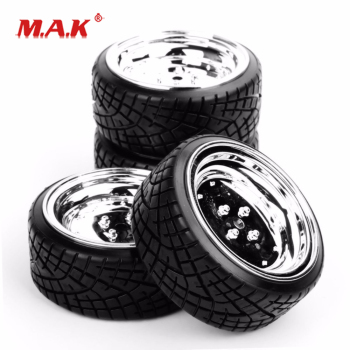 PP0290+PP0107 1/10 Scale RC Drift Tires and Wheel Rims with 6mm Offset and 12mm Hex fit On-Road Car Model Toys Accessory image