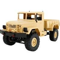 Nuevo 1:16 Escala RC Rock Crawler Militar 4WD Off-Road Truck RTR Coche de Control Remoto de Juguete para Niños