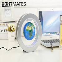 LIGHTMATES LED World Map Floating Earth Magnetic Suspension Anti Gravity Magic Maglev Globe 4 Inch Round