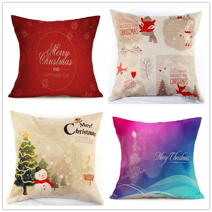 Cushion Cover For Christmas Decoration 2016 Family Essential Home Chair Covers Navidad Decoraciones Para El Hogar Wedding Decor Wide Selection;